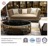 Festes Holz-Hotel-Möbel mit Vorhalle-kundenspezifischem Sofa stellten ein (HL-X-4)