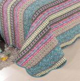 100% algodão colchas colchas azul lavável de impressão