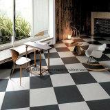 Azulejo de suelo rústico blanco puro negro puro del material de construcción