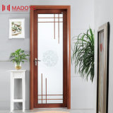 Porte en aluminium de salle de bains avec le double vitrage