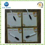 Imanes modificados para requisitos particulares del refrigerador de la impresión del diseño de la insignia para el regalo de boda (JP-FM045)