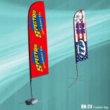 Lágrima de 2,5 m de altura de la publicidad de poliéster las banderas de playa