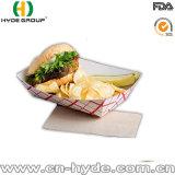 Поднос шлюпки белой бумаги для еды