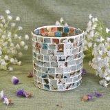 De mozaïek Verfraaide Houders van de Kaars van het Glas voor de Decoratie van het Huis
