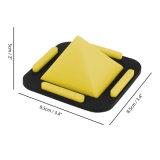 Soporte de escritorio de la pirámide, ángulos ajustables del silicón antideslizante lavable para los teléfonos