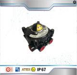 Contenitore di interruttore di limite degli accessori della valvola pneumatica