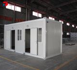 20FT는 40FT 편평한 팩 모듈 콘테이너 집을 결합했다