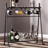 Cremagliera alla moda di vetro di vino di disegno con la visualizzazione della parte superiore del supporto di bottiglie