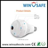 Lâmpada de luz de grau 360 Wireless WiFi em casa IP câmara panorâmica