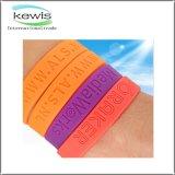 bracelet de silicium de silicones coloré par 202mm pour le cadeau promotionnel