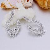 China-reines silbernes Gold überzogene Charme-Ohrring-modische Messingschmucksachen
