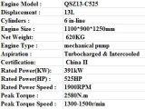 良質の構築のためのCumminsのディーゼル機関Qsz13-C525