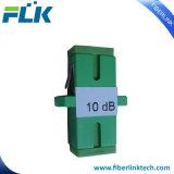 Atenuador fijo del conector óptico de la fibra del tabique hermético Sc/LC/FC/St