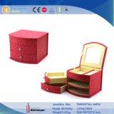 적절한 PU 가죽 보석 장식용 저장 상자 (6744)