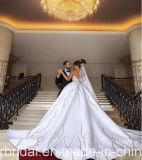 Amor cristalino moldeado sin tirantes del satén de los vestidos de bola Wedding las alineadas nupciales Z2072