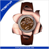 Novo Estilo Fashion Flower-Shaped Senhoras Watch Quartz relógio de pulso-2377 PSD
