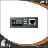 Convertidor 1X 10/100/1000Base-T RJ45 de Meida de la alta calidad fibra del SC los 20km de 1X 1000Base-X BIDI T1310/R1550nm a la sola