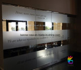 Etiqueta engomada impresa película de encargo del vinilo de las etiquetas de la ventana