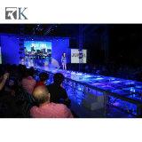 Bewegliches Aluminiumglasstadium mit LED-Lichtern für T-Zeigen Ereignis