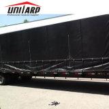 """18oz revestido de PVC Tarp Truck Lumber Tarp 24 """"*20' com D anéis rotativos"""