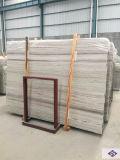 Marmo bianco di legno di cristallo di marmo bianco Polished naturale interno di disegno moderno