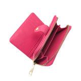 Lcq-0125 последней Dot Design провод фиолетового цвета кожи леди кошельки моды Bi-Fold Wallet кошелек наличными муфты кредитной карты для 2018 летом пружины