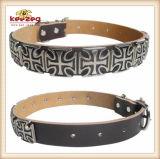 De Kraag van /Dog van de Kraag van het Huisdier van het Leer van de kwaliteit voor Klein/Middelgroot/Groot (KC0035)