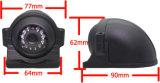 1/3 '' cámara del carro de la prueba del tiempo del uso de la vista lateral del sensor y de la visión trasera con el IR y el audio