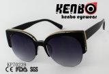 Óculos de sol da forma do olho de gato com meio frame Kp70239