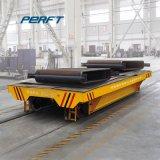 80 Tonnen-Kapazitäts-Niederspannungs-motorisiertes Schienen-flaches Übergangsfahrzeug