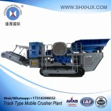 Rad-Typ bewegliche Steinzerkleinerungsmaschine-Pflanze mit 80-130 Tph der Kapazität