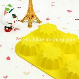 100% moulages de gâteau de forme de tournesol des silicones 6-Cavity de catégorie comestible