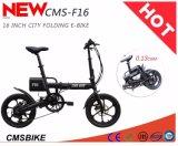 Aleación del Al de 16 pulgadas plegable la bici eléctrica, velocidad de Shimano 6