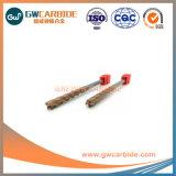 100% de matéria-prima de carboneto final do Cortador de moinho 4 flautas HRC55