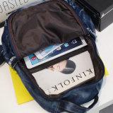Morral ocasional del dril de algodón del adolescente de los bolsos de escuela de la mochila de la cartera