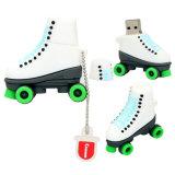 方法氷スケートUSBのフラッシュは漫画のローラースケートの靴を運転する