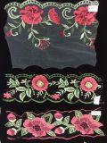 Merletto della maglia del merletto del ricamo del fiore per gli indumenti