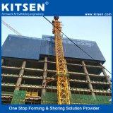Professionele High-Rise Bouwconstructie die Steiger beklimmen