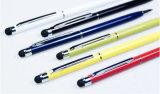 Высококачественный металлический светодиодный светильник фонарь индивидуального логотипа пера шариковой ручки с индикатором рекламный светодиодный индикатор шариковым пером