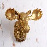공장 주문품 벽 커튼 창조적인 금 수지 Bull 맨 위 장식