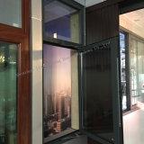 Perfil de color gris aluminio Casement Ventana para uso comercial y residencial