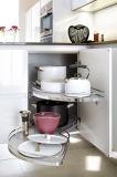 彎曲部白いカラー台所家具の優雅な木製の食器棚Blk49