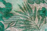 Telas verdes do jacquard do poliéster (FTH31048)