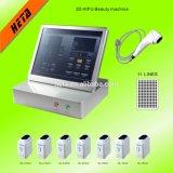 Utilisation à la maison mini 2 dans 1 anti remontée du visage de Lipo Hifu d'âge d'ultrason amincissant la machine pour des soins de la peau