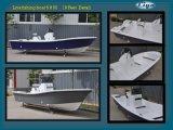 Liya 5-7.6m barco de pesca comercial Barco de plástico reforçado com o motor