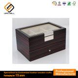 2 Los lazos de madera de nogal de ébano de almacenamiento de nivel dos Caja de regalo
