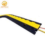 1000*250*50mm jaqueta amarelo exterior de borracha 2 Canais Protector de cabo