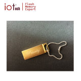 ロゴの金小型金属USBのフラッシュ・メモリのペン駆動機構