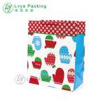 2017 Nuevo lujo bolsa de papel Kraft de Navidad/bolsa de compras la bolsa de regalo/fabricante