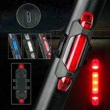Lampada ricaricabile recentemente portatile del fanale posteriore dell'indicatore luminoso d'avvertimento di sicurezza della parte posteriore della coda della bicicletta della bici del USB